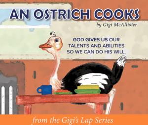 An ostrich Cooks book cover