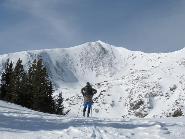 Steve Almasi facing 13,209 foot Homestake Peak