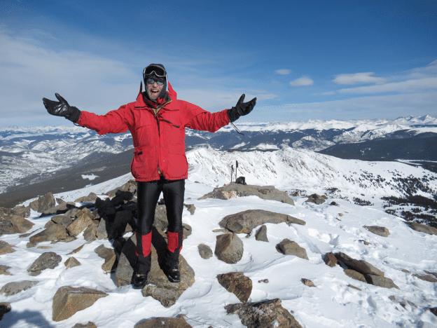 frosty Woolridge at tghe summit
