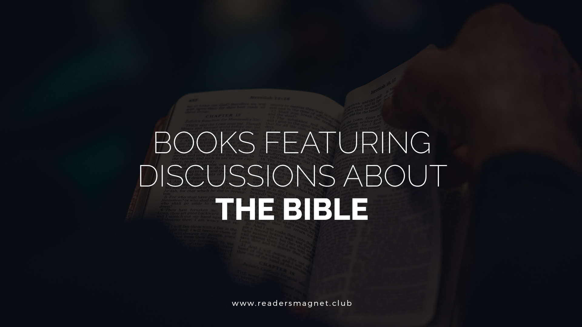 Books Featuring Discussions About the Bible banner