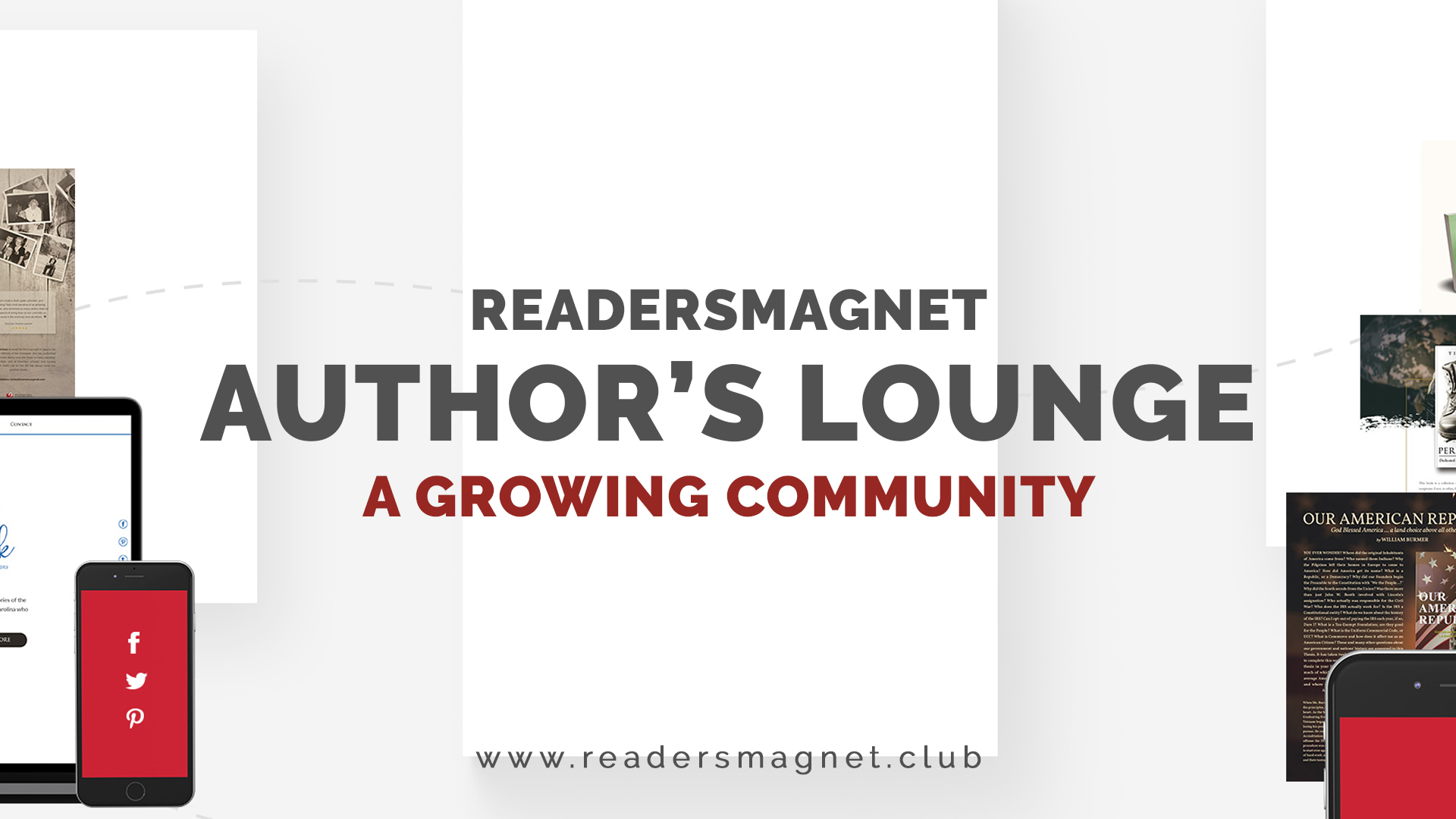 ReadersMagnet Authors' Lounge A Growing Community