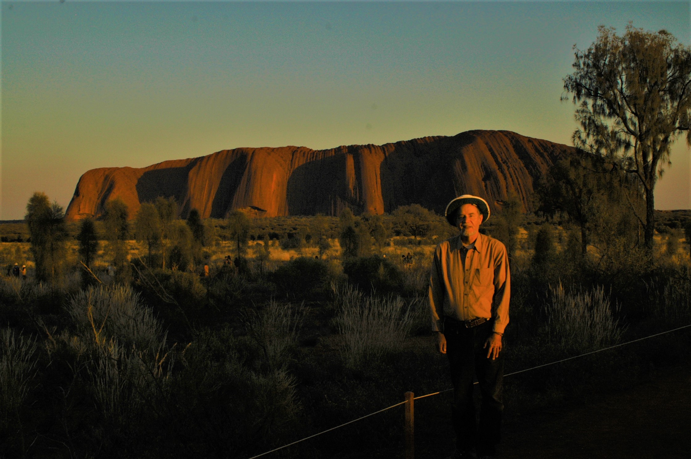 Craig C Downer at Uluru Rock N.T. Australia, sunrise late Oct 2014 by Mae Lee Sun