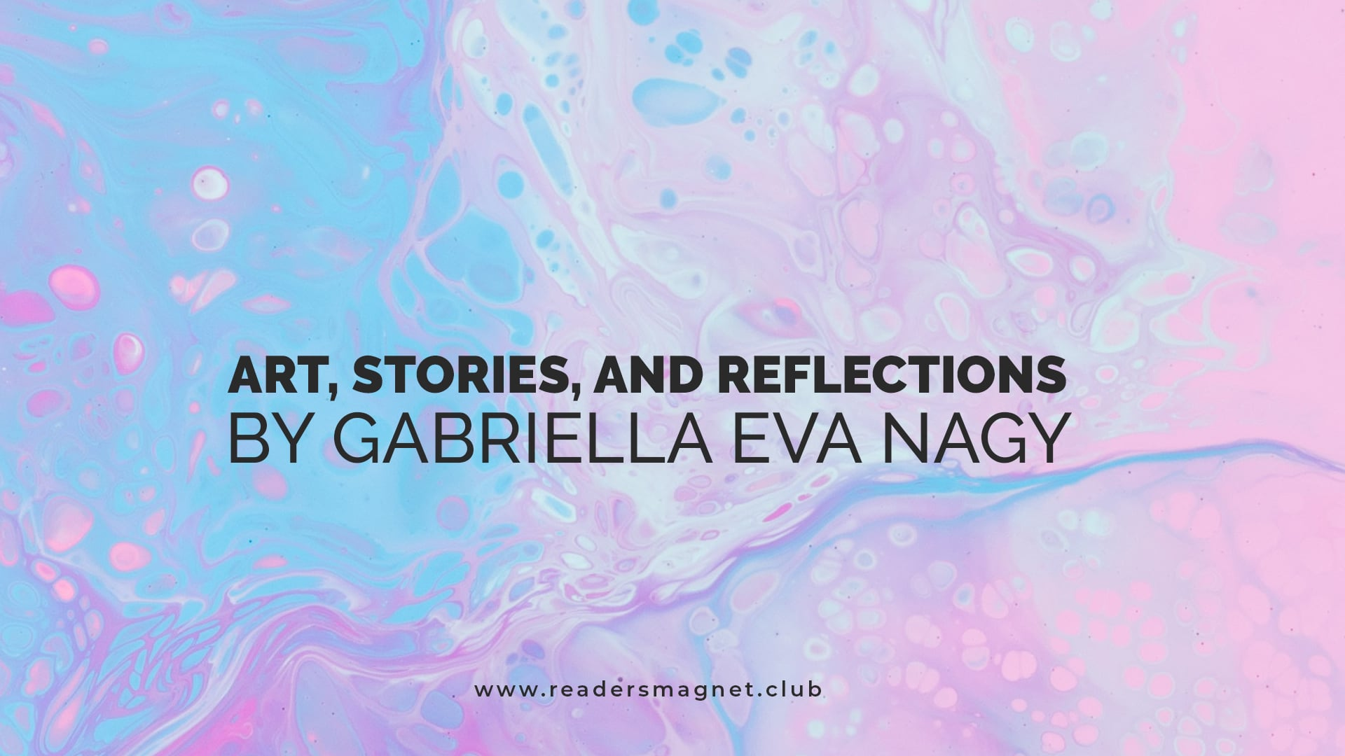 Art Stories and Reflections by Gabriella Eva banner